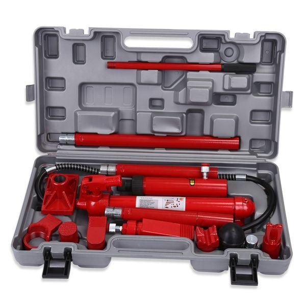 10 tonnes hydraulique kit de réparation de châssis de carrosserie de voiture van jack outils rouge hydraulique de réparation de cric en acier 1 kit de réparation de châssis de voiture