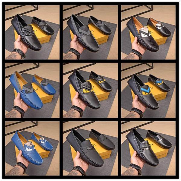 autunno A7 primavera estate 10 FDbrands stile mens nero marrone vera pelle piatte Rubbe unica fibbia Mocassini vestito cinghia