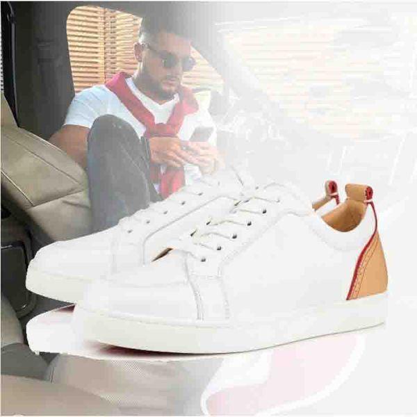 Rantulow orlato deri düşük spor ayakkabı kırmızı taban ayakkabı erkekler için. Kadınlar lüks ünlü spor ayakkabı Çiviler düşük Üst Çiviler Kaykay fabrika toptan