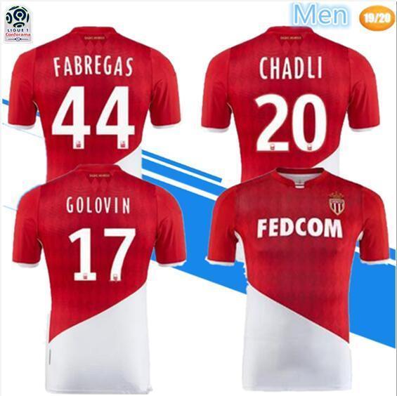 Maglia da calcio As Monaco 2019 di alta qualità 2019 19 20 FABREGAS FALCAO GOLOVIN KEITA JOVETIC GLIK maglie maglia da calcio maillot de foot
