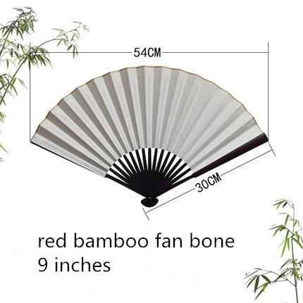9' red bamboo fan bone