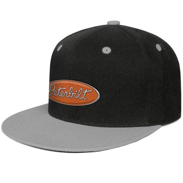 Womens Mens Plain Adjustable Orange And Chrome Peterbilt Hood Logo Hip-Hop Cotton Snapback Cap Golf Military Caps Airy Mesh Hats For Men Wom