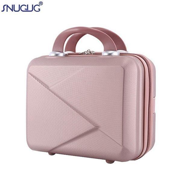 Valigia leggera di alta qualità da 14 pollici Mini cerniera Lady Business Abs Borsa cosmetica Valigia per borse per trucco Borsa da toiletteMX190824