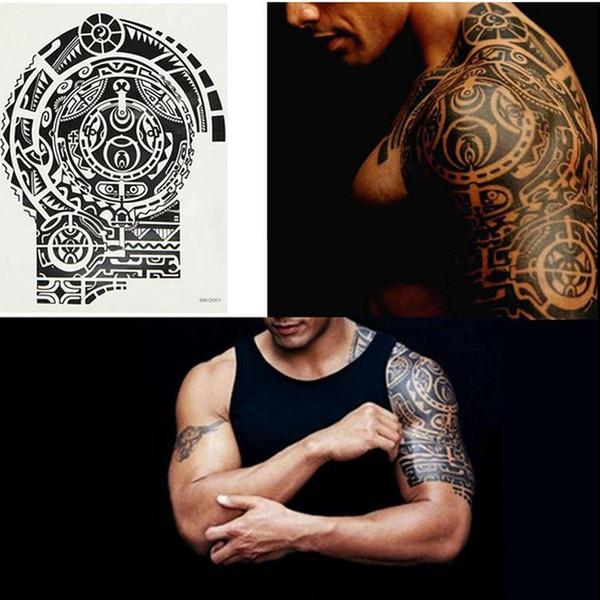 Nuovo modo rimovibile impermeabile autoadesivo del tatuaggio temporaneo braccio spalla Body Art Sticker Moda tatuaggi Body Art
