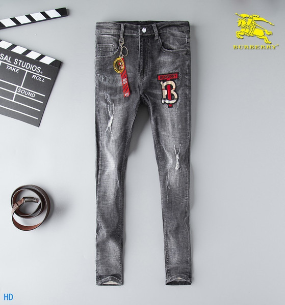 2019 New Fashion Design For Men High Quality And Exquisite Korean Edition Jeans Embroidery Slim Casual Small Straight Foot Trousers 15