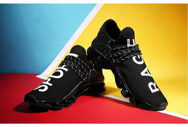 2018 yeni sıcak satış Bıçak erkek gelgit büyük boy rahat ayakkabılar çift uçan dokuma ayakkabı örgü nefes koşu ayakkab ...