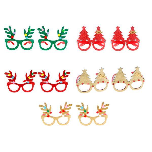 Christmas Frame.Innovative Christmas Frame Glasses Ornaments Adult Kids Sunglass Eyeglass Costume Eye Frame Xmas Gifts Party Decoration Birthday Tableware Birthday