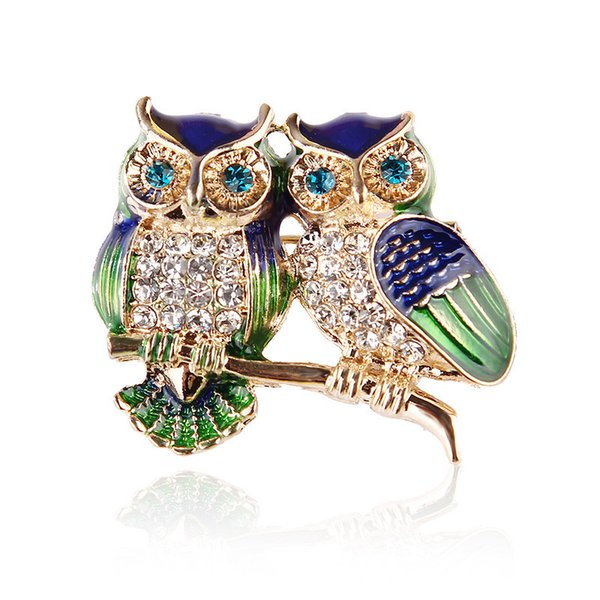 Owl Brooch New Temperament Atmospheric Individuality Creative Oil Enamel High-end Pin Accessories
