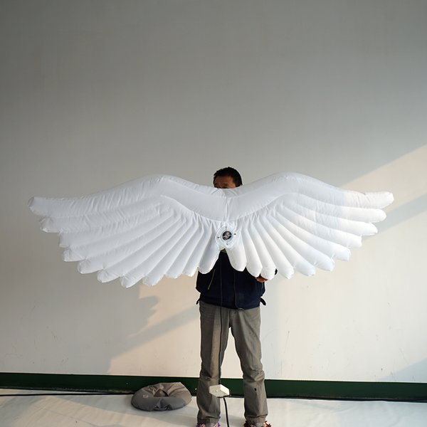 Creative LED inflatable decorative angel wings for festival parade satge decoration Vivid design advertising product