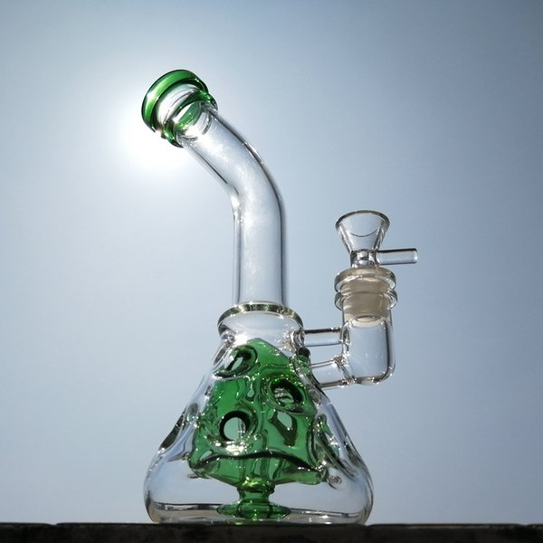 9 Inch Recycler Dab Rig Fab Egg Beaker Bong Showerhead Swiss Perc Water Pipe With 14mm Bowl MFE09