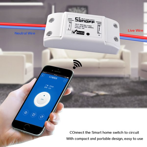 SONOFF Smart Wifi Switch Wireless Remote Control Power Shut 10A Timer Universal Home Controller Light Switch