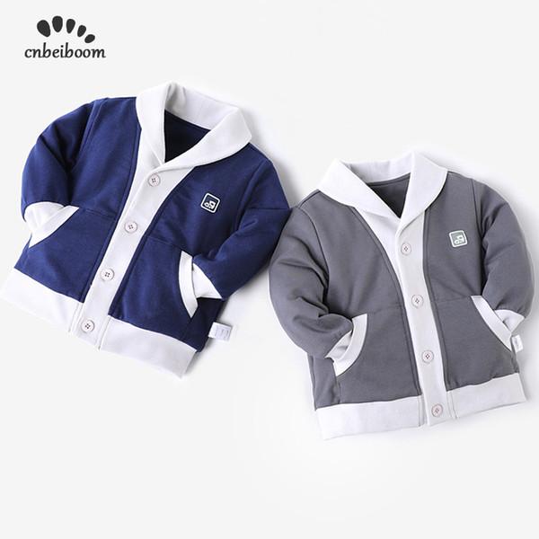 Bebek Artı Kadife Ceket 2019 Bahar kış erkek çift sıcak ceket Hırka kalınlaşma bebek çocuk 1-4 yıl giyim giysi