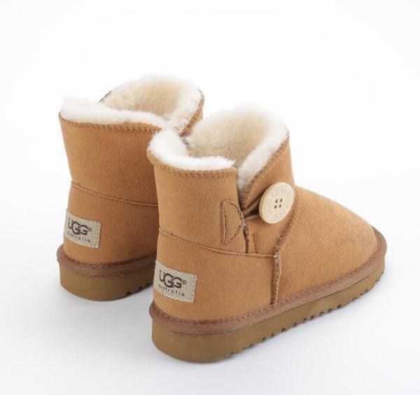 mujeres del estilo caliente de Australia s botas para la nieve única decoración de hebilla de botas de cuero de zapatos de las mujeres pura