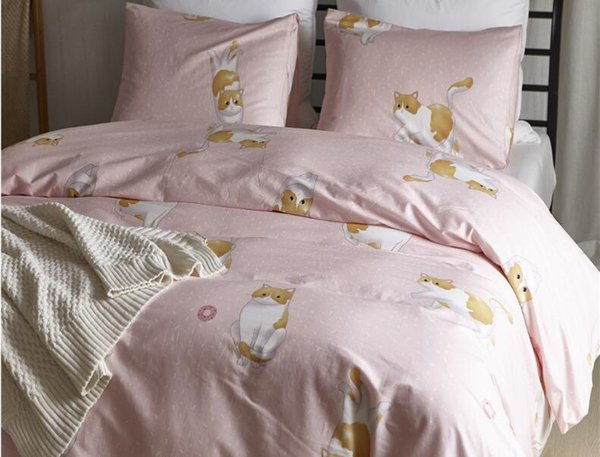 Kitty Design 100% Cotton Duvet Cover Set Duvet Cover With Pillowcases Without Filler Without Sheet Beddings Collection