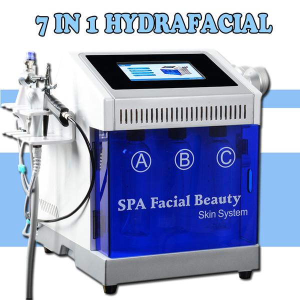 7 в 1 гидро пилинг дермабразия Алмаз пилинг био свет терапия машина алмазный Кристалл микродермабразия машины