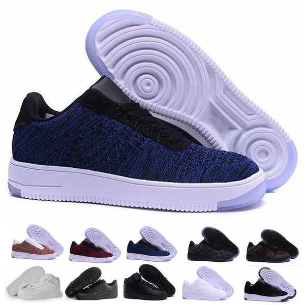 2019 Newest high quality forced men's women's low shoes mesh Breathable one unisex 1 knit Euro mens womens designer shoes basketba