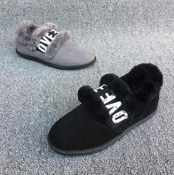 Automne et hiver, plus velours nouveau fond plat femmes enceintes en cuir chaussures pois femme chaud chaussures en coton