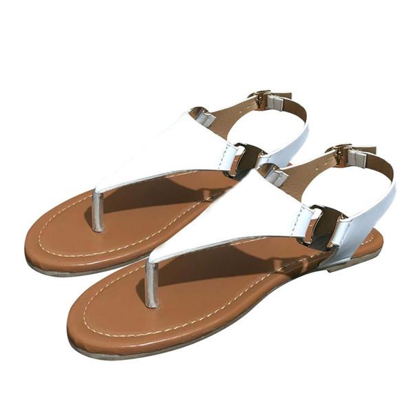 YOUYEDIAN Sandálias Planas Mulheres Sandálias Abertas Toe Tanga Sandálias de Verão Flip Flop Tornozelo Strap Plana Casuais Elegent Sapatos Macios sandale femmes