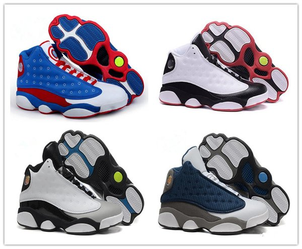 new style e3eaa e3f6b 2018 2018 New Sale Basketball Shoes Captain America 13s XIII Black Cat  Flints Athletics Sneakers Sports Shoe 13s Trainers Sports Sneakers Danboss  From ...