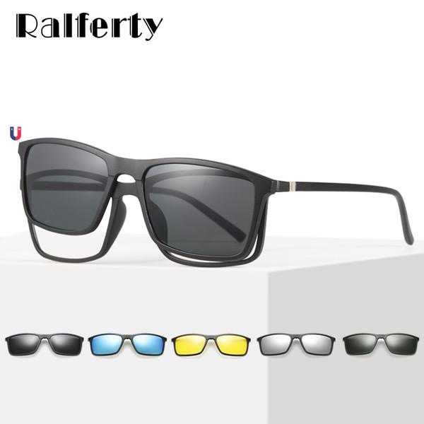 lo último 2964b ec9a9 Compre Ralferty Multiclip Gafas Marco Clip En Gafas De Sol Magnéticas  Hombres Mujeres Polarized Sunglases Square Gafas De Sol De Prescripción  A8806 A ...
