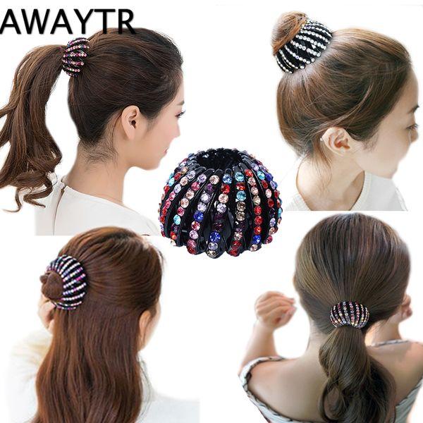 2 Stück Frauen Französisch Large Hair Barrette Pferdeschwanz Halter Clip