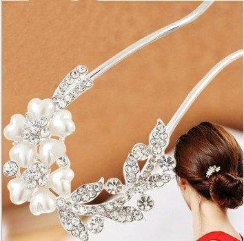 Women's Fashion Hair Accessorie Lovely Vintage Jewelry Crystal Hair Clips Hairpins- For Hair Clip Beauty Tools C19010501