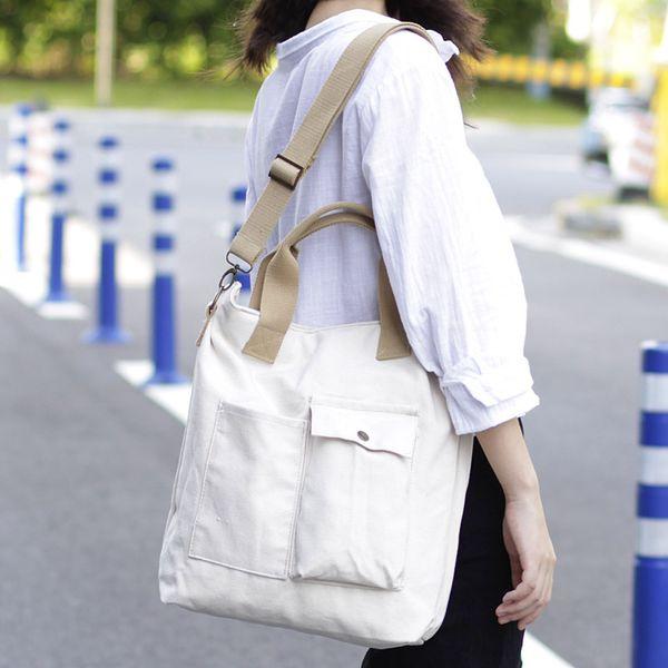 2019 Grande Capacidade de Lona Sacos de Ombro Saco de Compras Ambiental Tote Bag Sacos Crossbody Bolsas Bolsa Ocasional Para As Mulheres