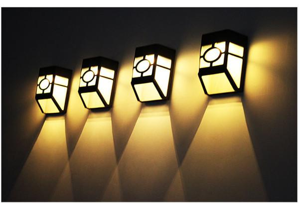 Solar Lamp Outdoor European-style LED Lantern Courtyard Wall Garden Lamp High-light led Wall Lamp Solar Energy