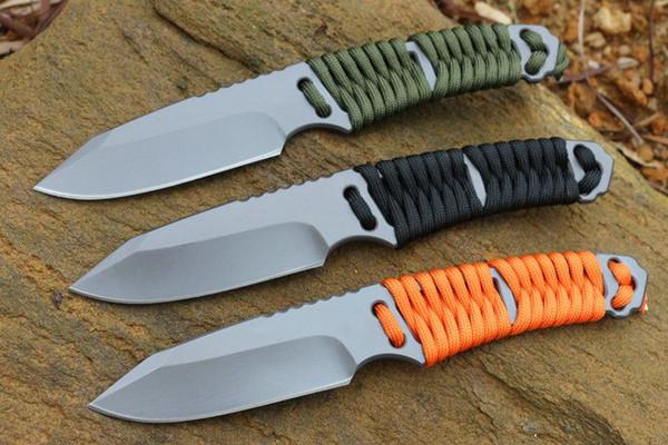 Geb BG прямой нож с фиксированным лезвием нейлоновый канат черный оранжевый дикий выживания кемпинг тактический нож рождественские ножи подарок для человека