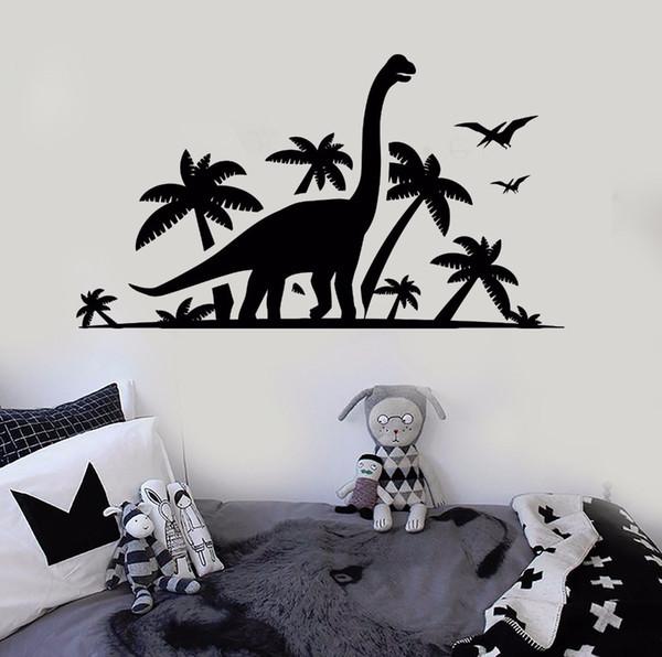 Vinyl Wandtattoo Abnehmbare Dinosaurier Park Wandaufkleber Kinder Kinderzimmer Vinyl Wandbild Home Design Dekoration Zubehör