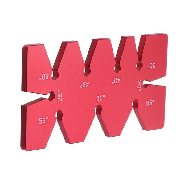 Aleación de aluminio 20-65 regla de la plantilla del ángulo del indicador del ángulo del grado para la carpintería