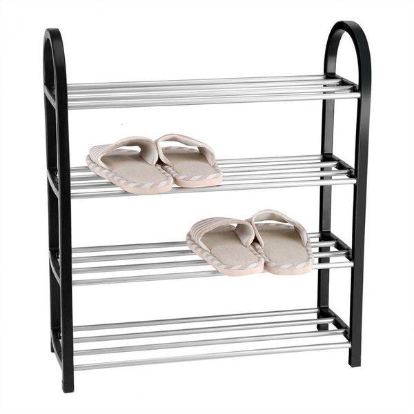Aluminum Metal Standing Shoe Rack Diy Shoes Storage Shelf Home Organizer Accessories Q190605