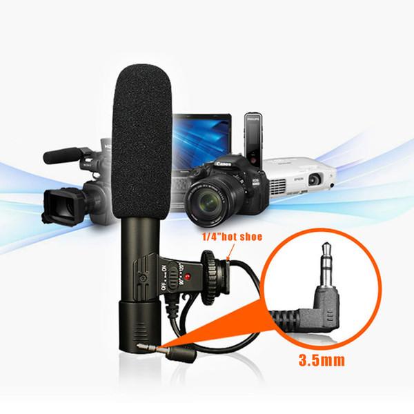 Professional Stereo Camcorder Microphone Mini 3.5mm Interview Recording Mic for Panasonic Pentax Canon Nikon Digital DSLR Camera