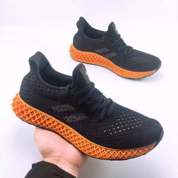 01with Box 2018 Mens and Womens Futurecraft 4D Print UB Casual shoes for Men Brand Designer Sports Shoes Size FR 38-47