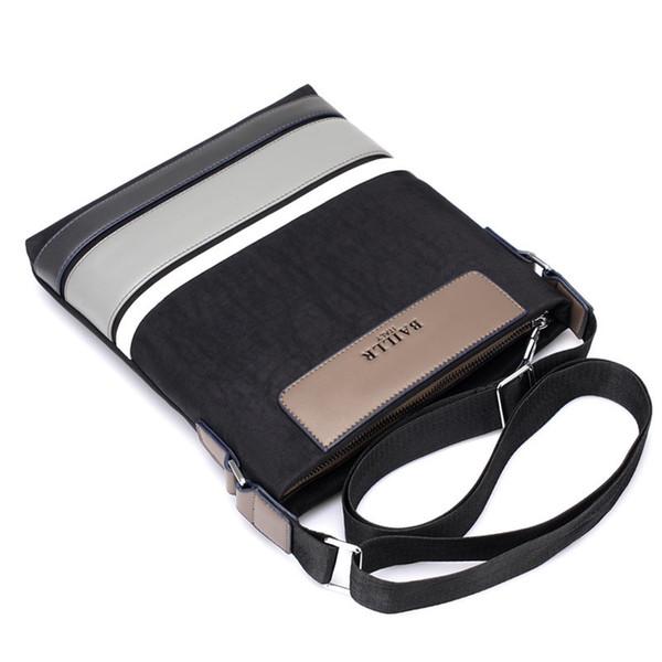 Марка Мужчина сумка 2017 мода мужской плечо сумка Crossbody Vintage Повседневного Коммуникатор нейлон оксфорд заплатка Малых закрылки мужчины