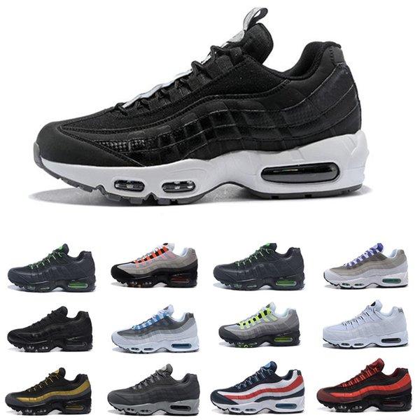 Compre Nike Air Max 95 Airmax Negro Marrón Blanco Azul De La Pizarra La Mejor Calidad Clásico TN Las Zapatillas De Deporte De Diseño Tamaño De Los