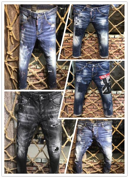 En 2019, la nouvelle marque des jeans d'hiver et d'été européens et américains à la mode pour hommes et jeans décontractés A216