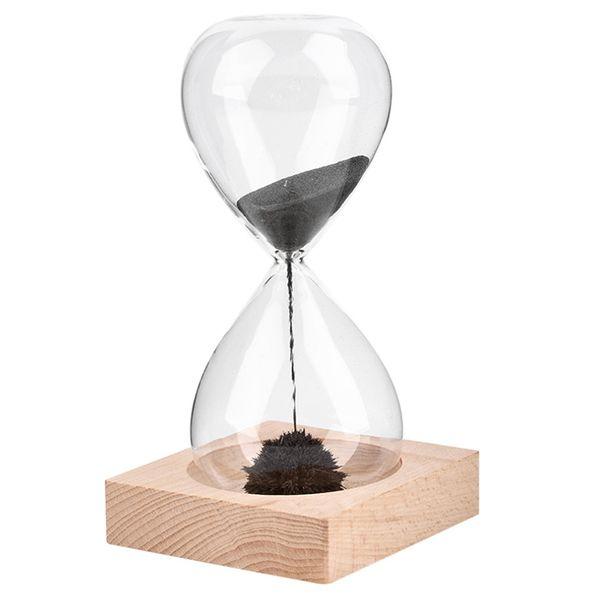 TOP!-1Pcs Hand-blown Timer clock Magnet Magnetic Hourglass Hourglass crafts sand clock timer Gift Home Decor