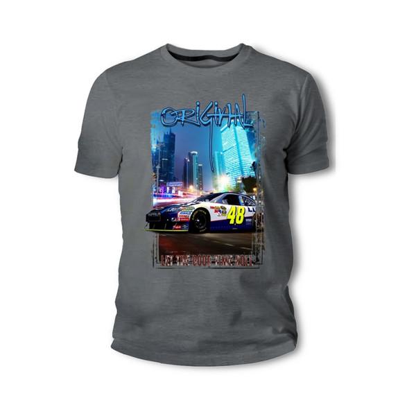 2019 Nouveaux Hommes T-shirt T-shirt Américain Classique Muscle De Voiture Impala Nascar Blau Weiss Auto Youngtimer Oldtimer Gros Discount T Shirt