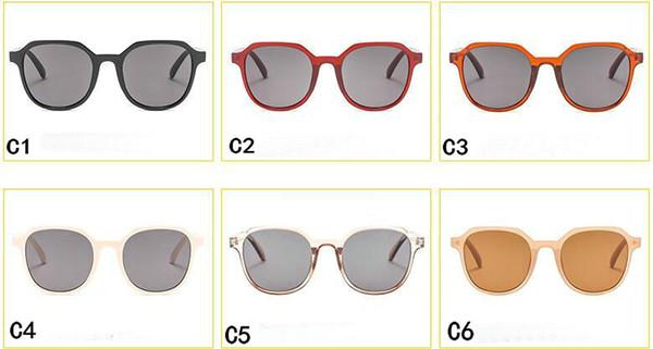 Gli occhiali da sole all'aperto di riciclaggio degli occhiali da sole all'aperto degli occhiali da sole del nuovo stile rotondo degli occhiali da sole di googel Mescolano il colore Il trasporto libero 10pcs / lot 5color.
