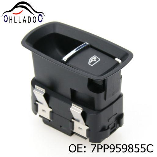 top popular HLLADO High Quality 7PP959855C Front Door Window Switch Single Power Window Switch For P orsche Cay enne 2011-2014 2021