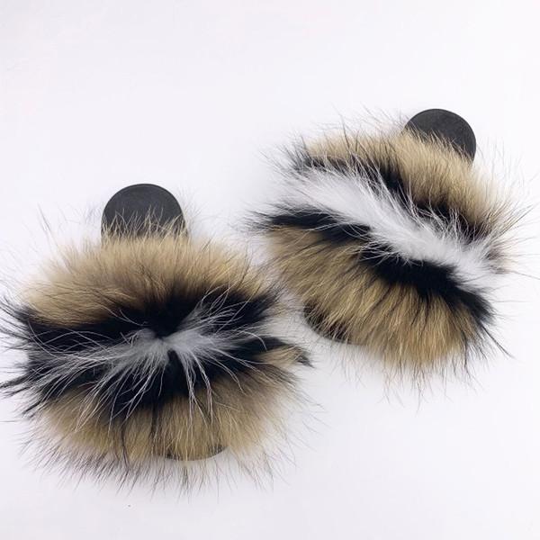 Raton laveur slippers_23 fourrure