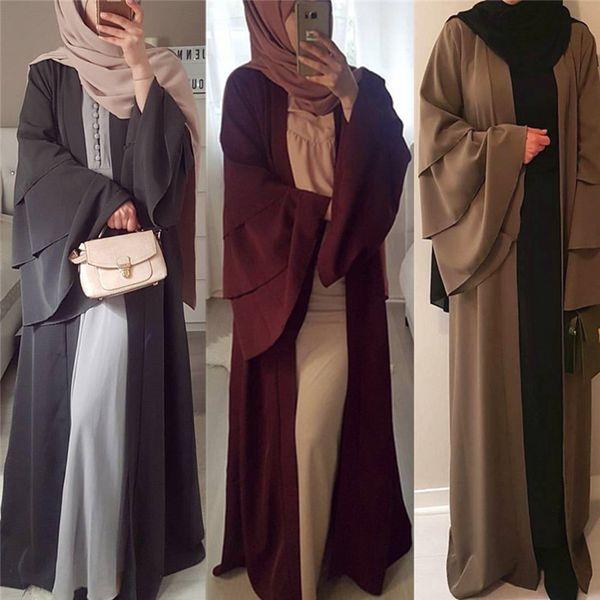 Cardigan manica manica tomba musulmana Abaya Dubai Abito lungo Kimono abito lungo Ramadan arabo islamico caftano Djellaba Abbigliamento preghiera