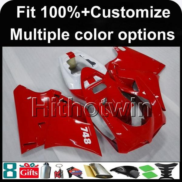 8Gifts + Custom molde de injeção capuz da motocicleta vermelha para 748 916 996 1996-2002 96 97 98 99 00 01 02 ABS Carenagens