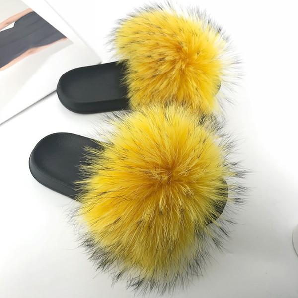 Raton laveur slippers_11 fourrure