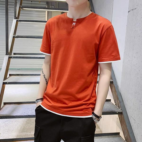 T-shirt en coton à manches courtes tendance tendance pour hommes à l'été 2019