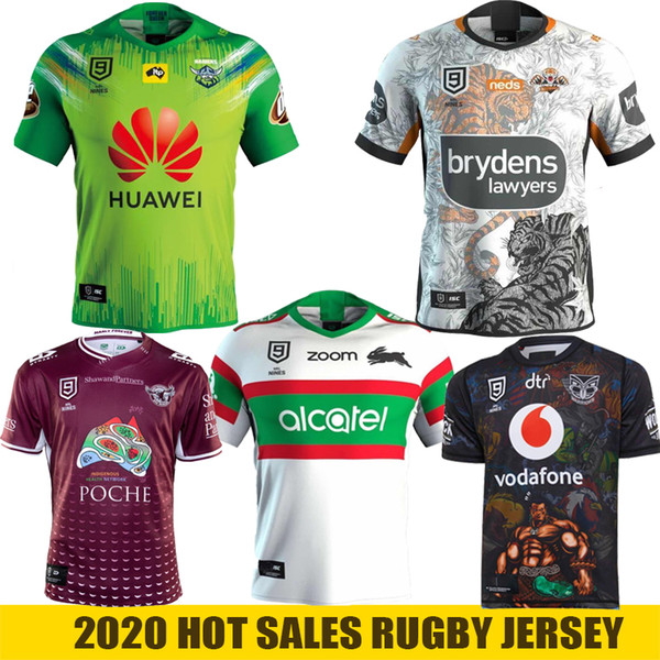 top popular 2020 Warriors NRL Nines Jersey CANBERRA Assaulter Wests Tigers South Sydney Rabbitohs Manly Sea Eagles NRL Rugby League Jersey 2020