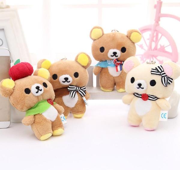 Cute bear doll bear couple plush toy doll pendant bouquet doll wedding gift