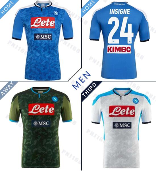 erkekler 19 20 Hamsik L.INSIGNE OYUNCU Napoli formaları için 2019 2020 Serie A Napoli Napoli ev futbol formaları Napoli mavi futbol Formalar Gömlek