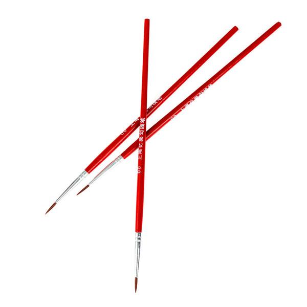 2019 100Pcs/Set Acrylic Painting Pen Red Fine Hand Painted Thin Hook Line Pen Drawing Art Pen Paint Brush Nylon Brush Art Supplies